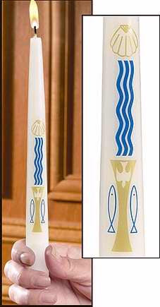 Will & Baumer Baptismal Candle: Baptism By Water