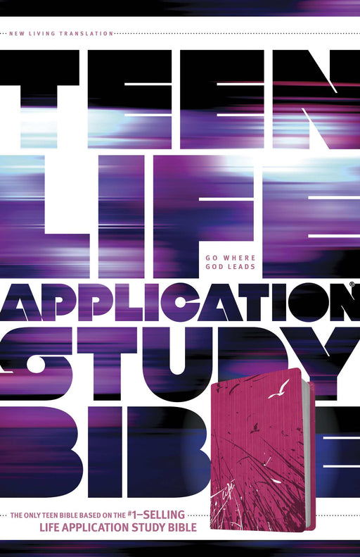 NLT2 Teen Life Application Study Bible-Pink Fields LeatherLike