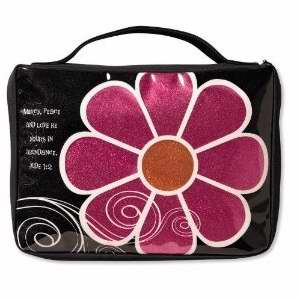 Bible Cover-Mod Flower Sparkle-Medium-Pink