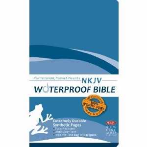 NKJV Waterproof Bible New Testament W/Psalms & Proverbs-Blue Wave