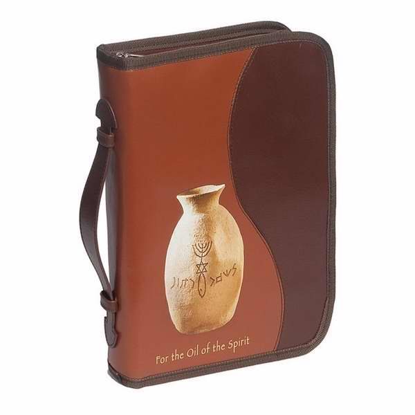 Bible Cover-For The Oil Of The Spirit-Large-Brown/Brown