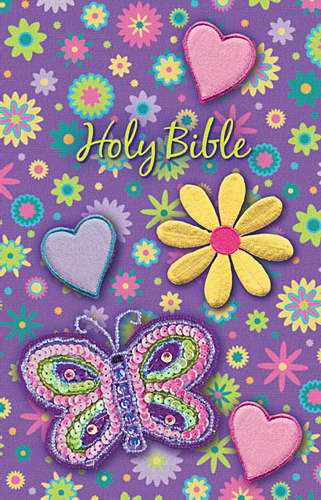 NKJV Shiny Sequin Bible-Purple Flex Cloth