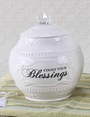 "Blessings Jar w/36 Blessings Cards (6.75"")"