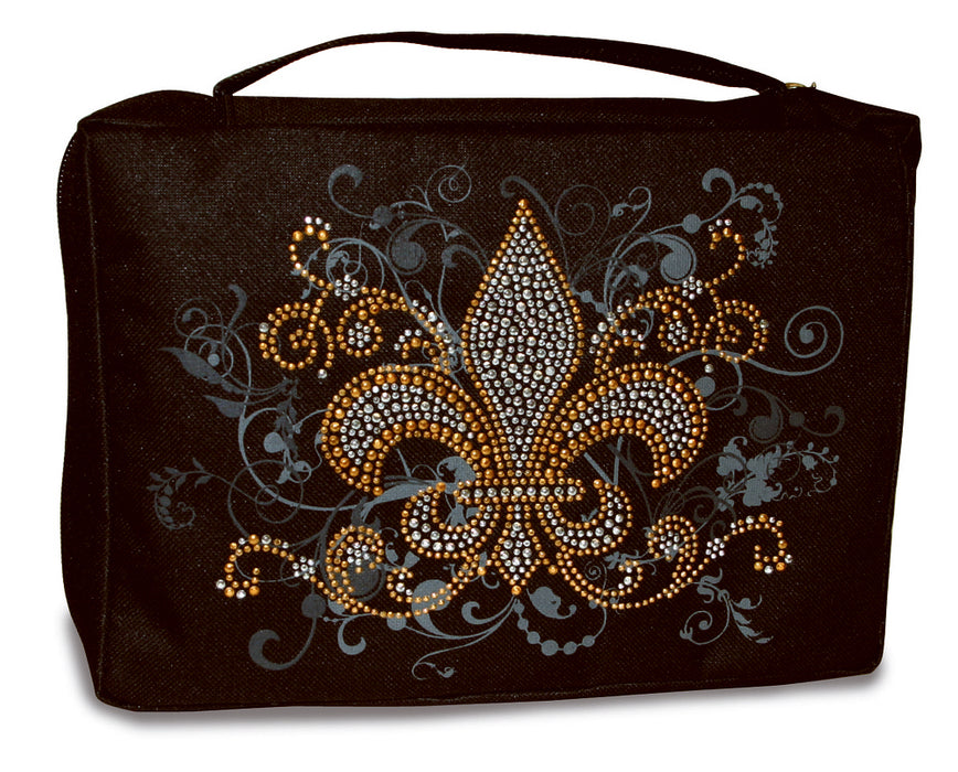 Bible Cover-Basic-Gem Embellished-Fleur-De-Lis-X Large