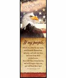 Bookmark-If My People/Eagle (Patriotic) (Pack Of 25)
