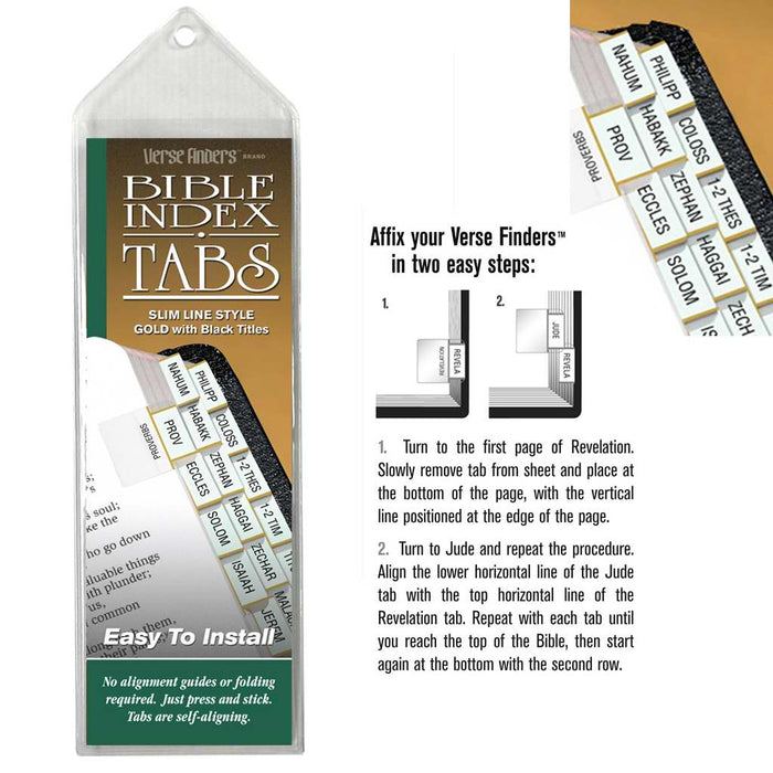 Bible Tab-Verse Finders-Slim Line-Gold