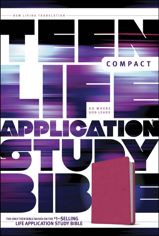 NLT2 Teen Life Application Study Bible/Compact Edition-Pink Fields LeatherLike