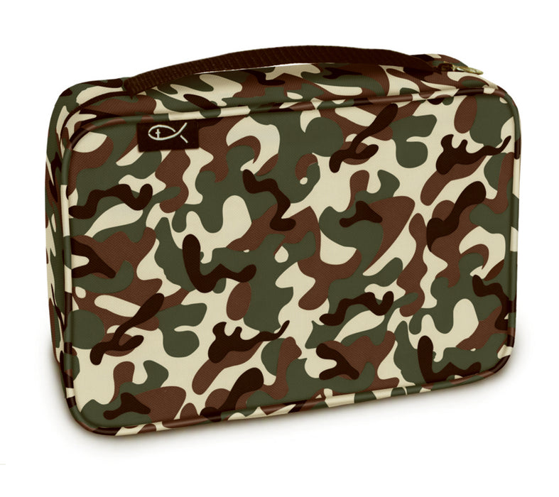 Bible Cover-Basic-Woodland Camo-Medium/Large