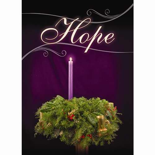 Banner-:C-Advent-Hope (2' x 3') (Indoor)