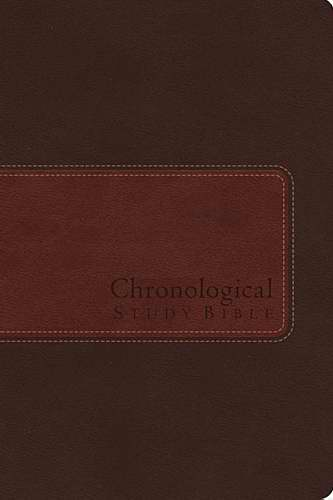 NIV Chronological Study Bible-Earth Brown/Auburn Leathersoft