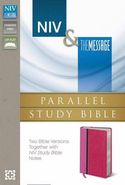 NIV & Message Parallel Study Bible-Orchid/Raspberry Duo-Tone