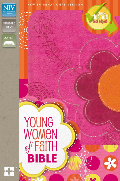 NIV Young Women Of Faith Bible-Raspberry/Clementine Duo-Tone