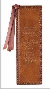 Bookmark-Pagemarker-For I Know The Plans/Tan Twirl-LuxLeather
