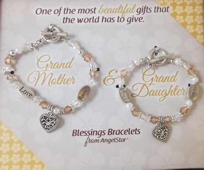 Bracelet-Blessings-Grandmother & Granddaughter-Gift Boxed-Set Of 2