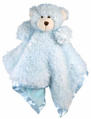 Blankie-Cuddle Bud-Bear-Satin Trimmed-Blue (18 X 18)