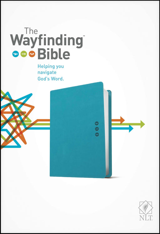 NLT2 Wayfinding Bible-Teal LeatherLike