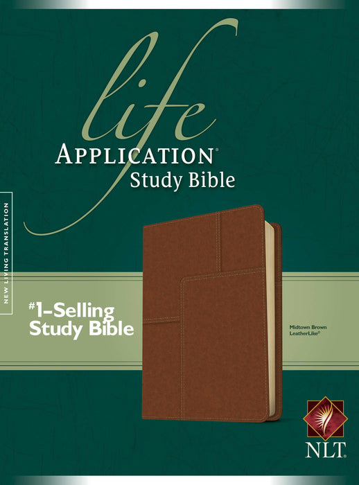 NLT2 Life Application Study Bible-Midtown Brown LeatherLike