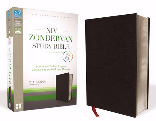 NIV Zondervan Study Bible-Black Bonded Leather