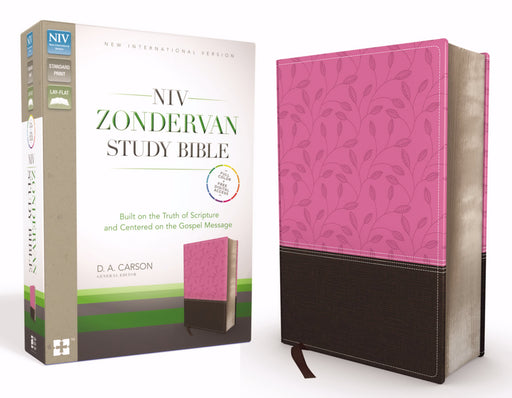 NIV Zondervan Study Bible-Orchid/Chocolate Duo-Tone