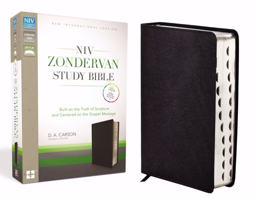 NIV Zondervan Study Bible-Black Bonded Leather Indexed
