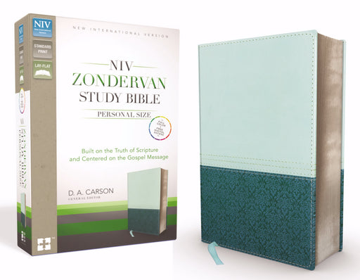 NIV Zondervan Study Bible/Personal Size-Sea Glass/Caribbean Blue Duo-Tone