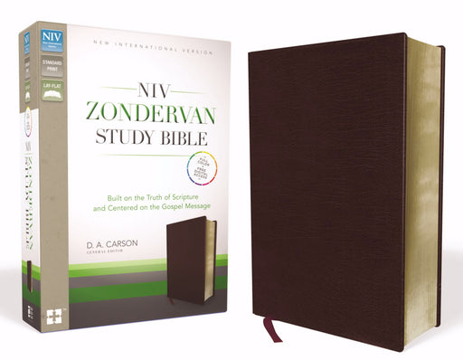NIV Zondervan Study Bible-Burgundy Bonded Leather