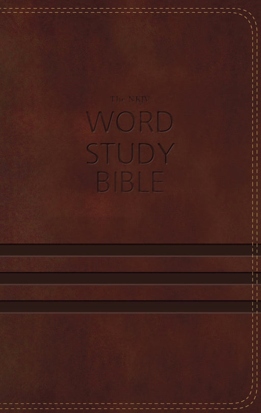 NKJV Word Study Bible-Brown LeatherSoft