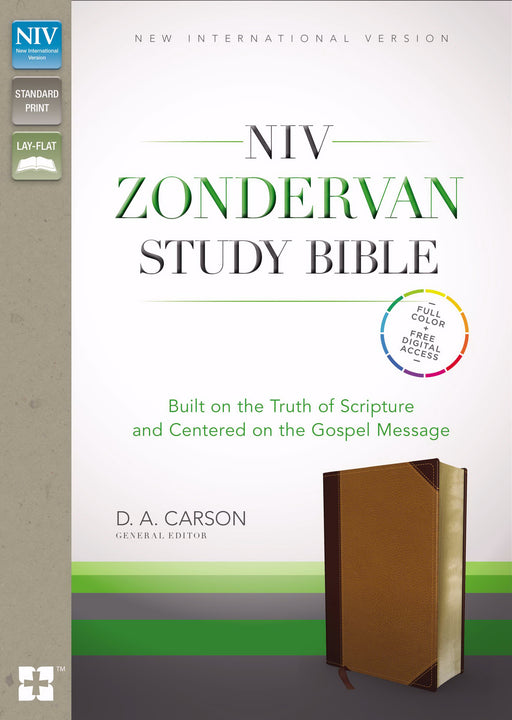NIV Zondervan Study Bible-Chocolate/Caramel Duo-Tone Indexed
