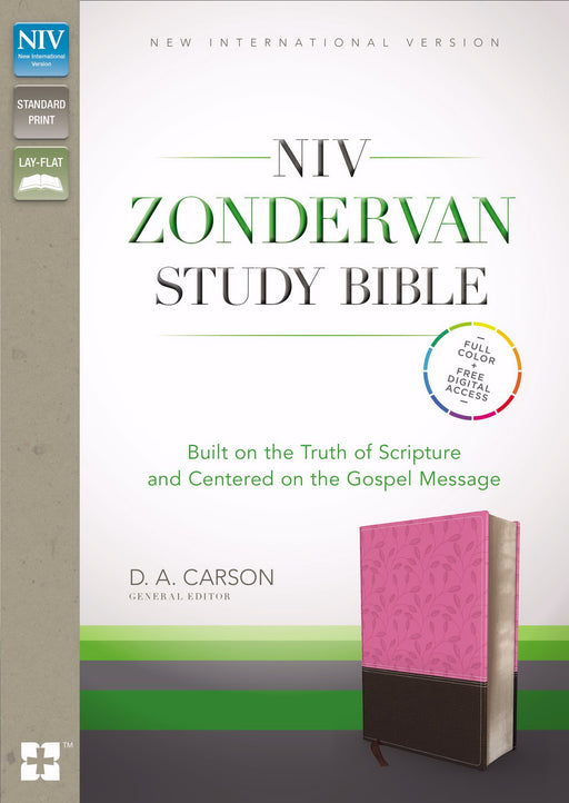 NIV Zondervan Study Bible-Orchid/Chocolate Duo-Tone Indexed