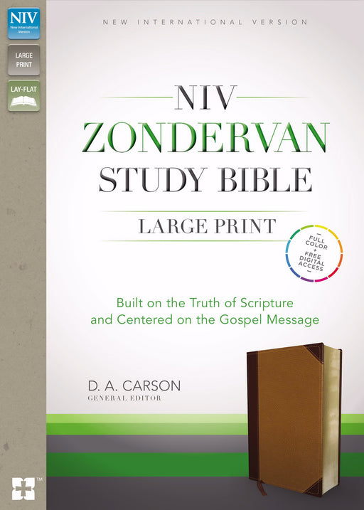 NIV Zondervan Study Bible/Large Print-Chocolate/Caramel Duo-Tone Indexed