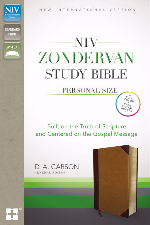 NIV Zondervan Study Bible/Personal Size-Chocolate/Black Duo-Tone Indexed