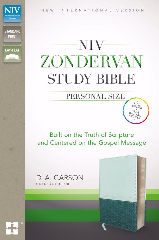 NIV Zondervan Study Bible/Personal Size-Sea Glass/Caribbean Blue Duo-Tone Indexed