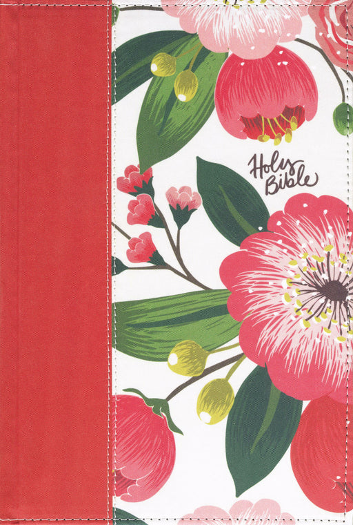 NKJV Woman'S Study Bible (Full Color)-Black/Burgundy Floral Hardcover Indexed