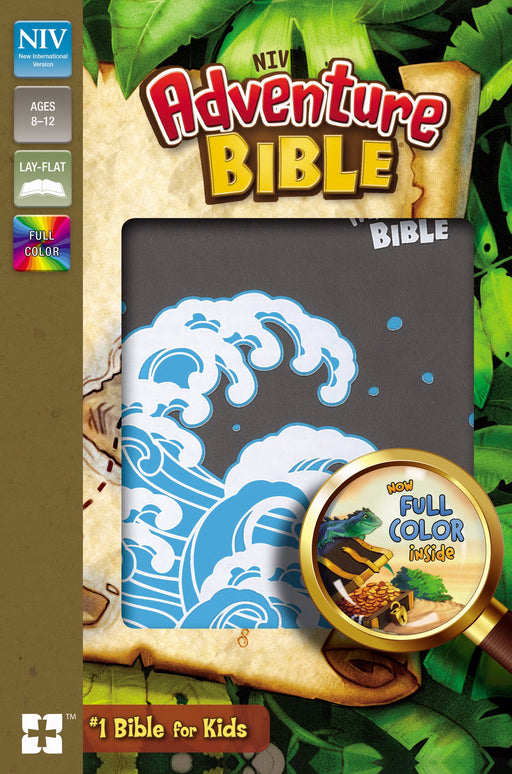 NIV Adventure Bible (Full Color)-Gray Leathersoft