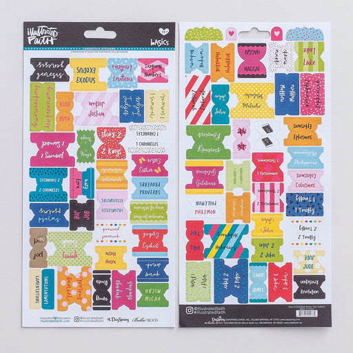 Bible Journaling-Cardstock Stickers-Bible Tabs-Colorful (All Books)