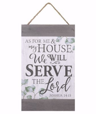 "Barnhouse Banner-As For Me And My House w/Jute String (11"" x 18.5"")"