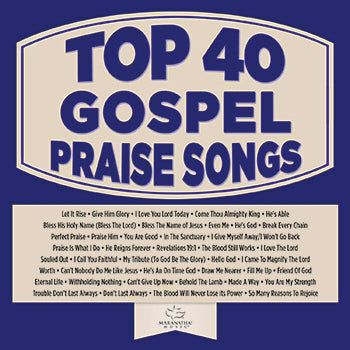 Audio CD-Top 40 Gospel Praise Songs (2 CD)