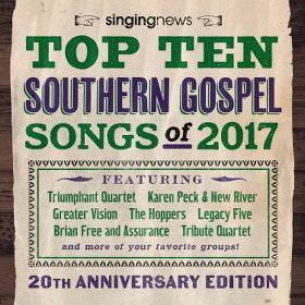 Audio CD-Singing News Top 10 Southern Gospel Songs Of 2017