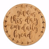 Bamboo Trivet-Daily Bread (7.5 Round)