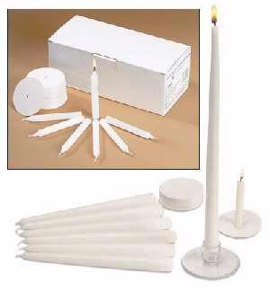 Candles - Candlelight Service Kit - Congregational, Pastor And Usher Candles With Drip Protectors