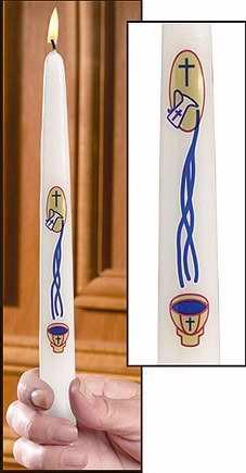 "Candles - Will & Baumer Baptismal Candle: My Baptism - 7/8"" X 10"" Taper PLUS Gift Box"