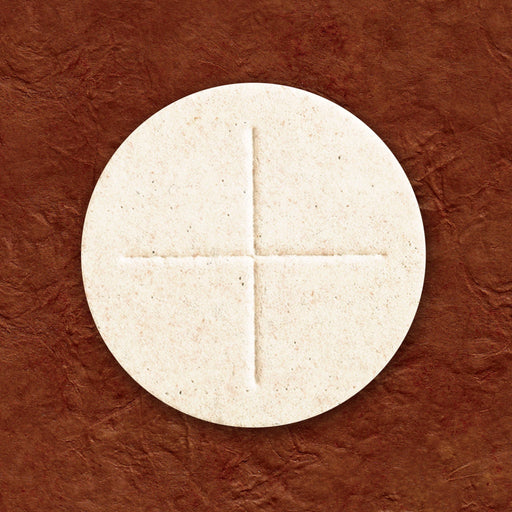 "Communion Wafers - Communion Wafer - White Altar Bread (2-3/4"") Box Of 100 - Cross Design"