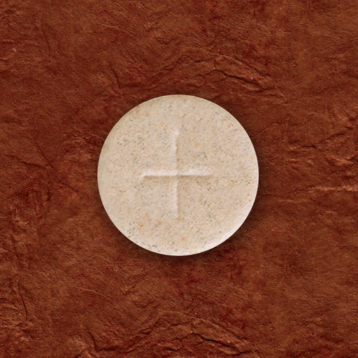 "Communion Wafers - Communion Wafer - Whole Wheat Altar Bread (1-1/8"") - Cross Design"