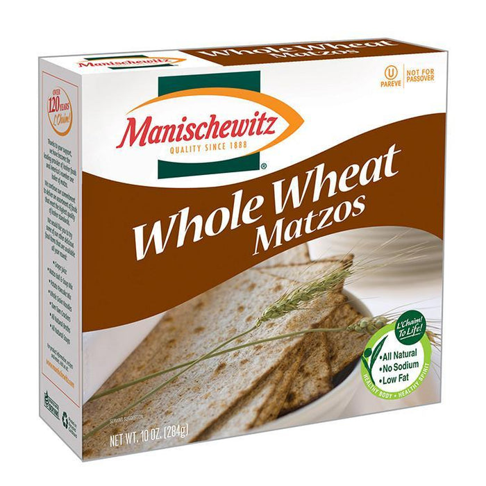Communion Wafers - Matzo Whole Wheat Bread-Square - Pack Of 100 Matzos