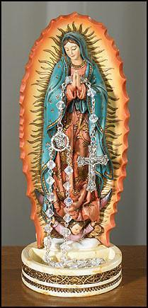 Statue - Our Lady Of Guadalupe Rosary Holder