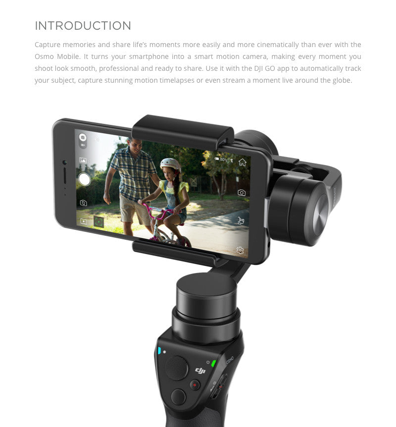 DJI Osmo Mobile Features