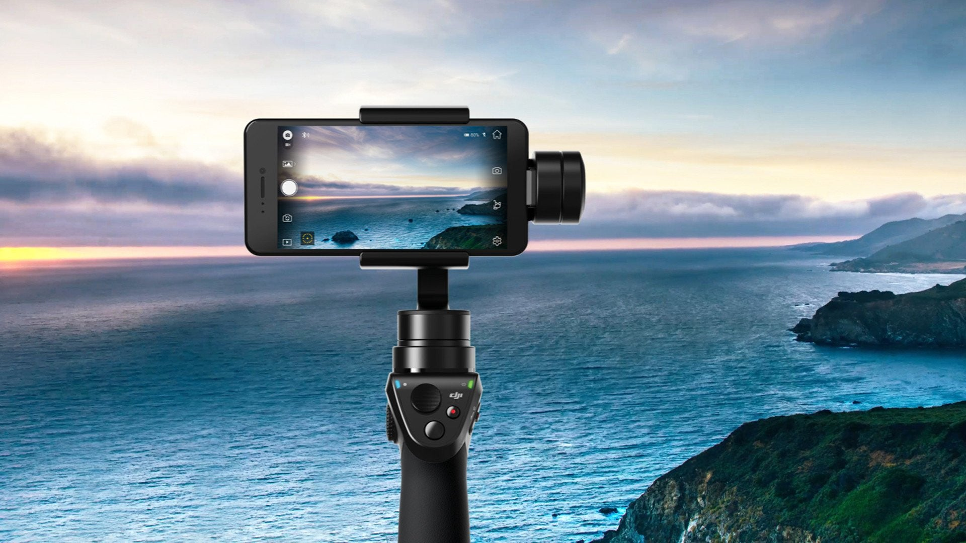 Buy Dji Osmo Mobile Handheld Gimbal For Smartphones Crazy Shot Silver Drones