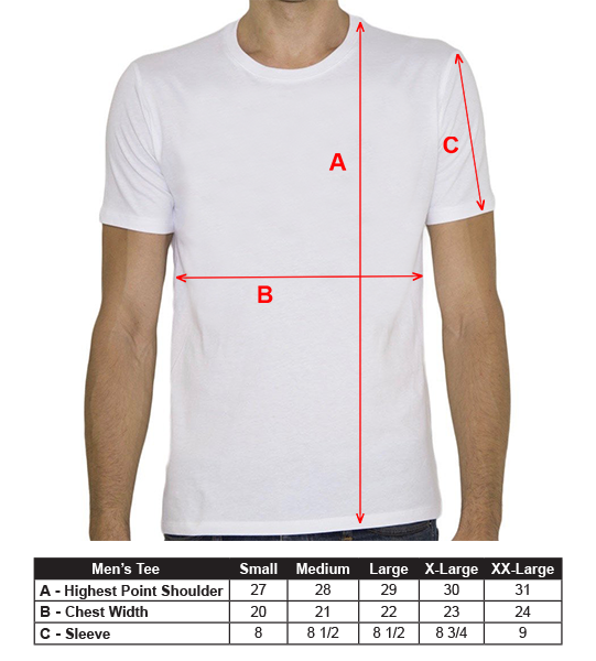 Men's T-Shirt Sizing Guide