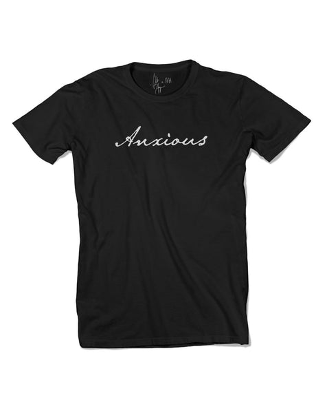 Men's T Shirt - Anxious Black