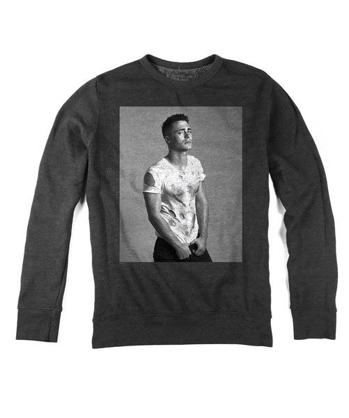 Men's Long Sleeve Pullover - Ripped